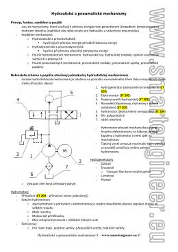 Hydraulické a pneumatické mechanismy