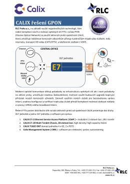CALIX řešení GPON (česky, pdf) - FTTx