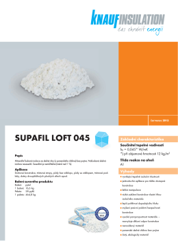 SUPAFIL LOFT 045 - Knauf Insulation