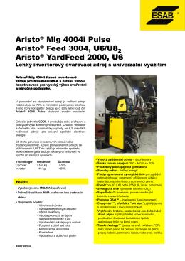 Aristo® Mig 4004i Pulse Aristo® Feed 3004, U6/U8 Aristo