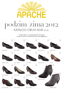 Katalog obuvi agb s.r.o. - apache