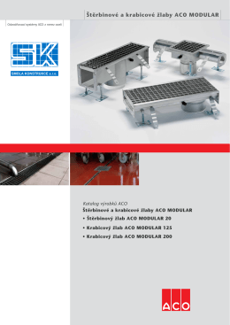 ACO Modular - odtokové systémy (pdf, 3,1 MB)