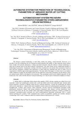 Automated System for Prediction of Technological Parameters of