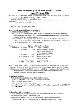 Zápis z jednání - 26.2.2014