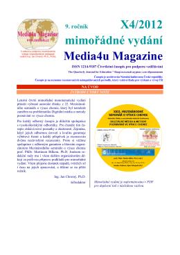 Digitální média a metody poznávání ve výuce chemie