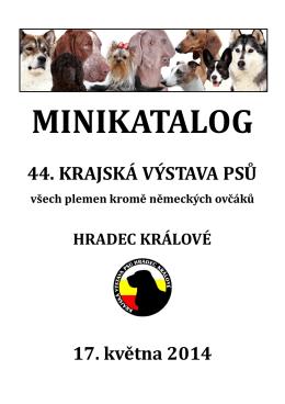 Minikatalog 44. ročníku - Krajská výstava psů Hradec Králové