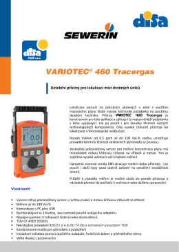 VARIOTEC® 460 Tracergas