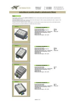 Jednofázové svodiče přepětí s odrušovacím filtrem