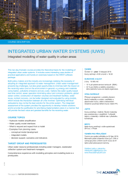 INTEGRATED URBAN WATER SYSTEMS (IUWS)