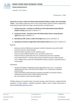 FEL dopis - Laboratoř pro vývoj a realizaci