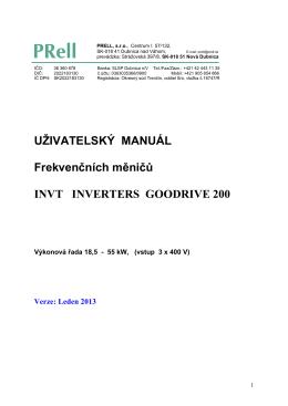 GOODRIVE 200 manual 1_2013
