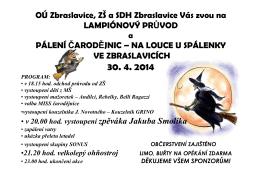 Pálení čarodějnic ve Zbraslavicích 30. 4. 2014
