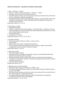 Okruhy k absolventským zkouškám platné od 2012