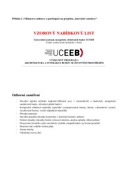 Nabídkový list v PDF