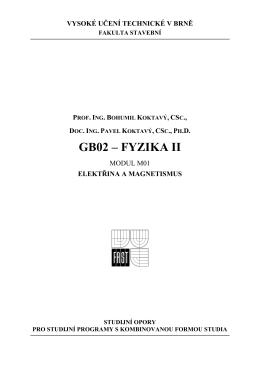 GB02 – FYZIKA II