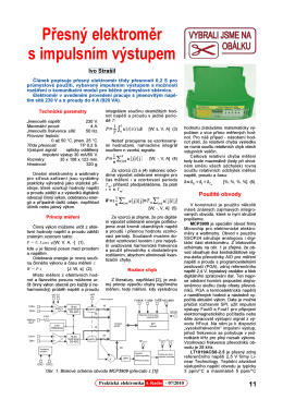 Přesný elektroměr s impulsním výstupem
