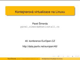 Kontejnerová virtualizace na Linuxu