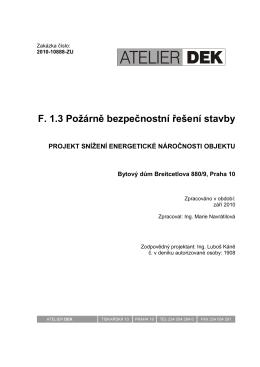 Technická zpráva A4 - Společenství Breitcetlova čp. 876-880
