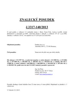 ZNALECKÝ POSUDEK č.3317-140/2013