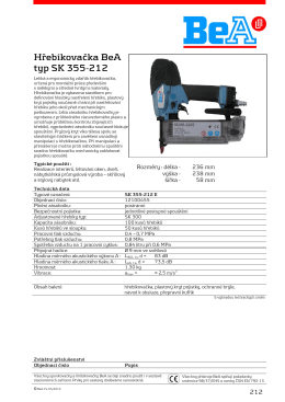 Hřebíkovačka BeA SK 355-212