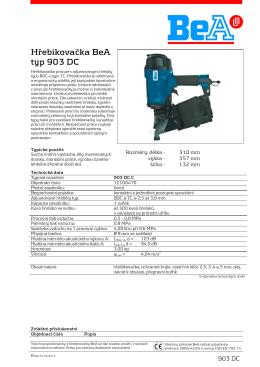 Hřebíkovačka BeA 903 DC