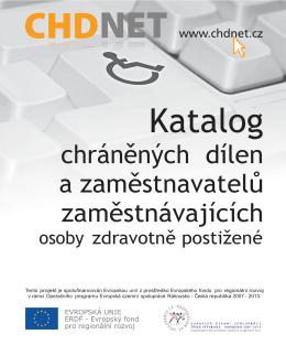 Katalog chráněných dílen a zaměstnavatelů zaměstnávajících osoby