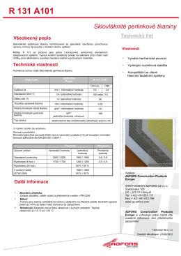 technický list Vertex R131.pdf