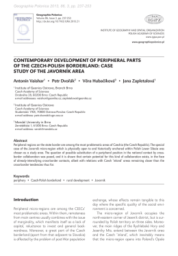 (2013) Contemporary development of peripheral parts of the Czech