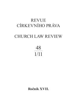 Revue církevního práva 48.indd - Společnost pro církevní právo