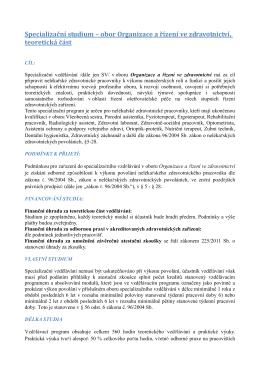 Organizace a řízení ve zdravotnictví
