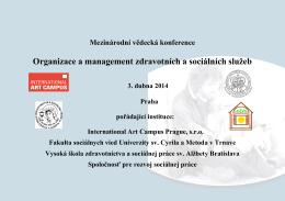 Organizace a management zdravotních a sociálních služeb