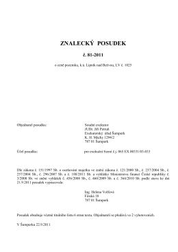 Znalecký posudek 1 - Exekutorský úřad Šumperk