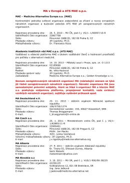 Struktura MA v Evropě - Medicina Alternativa Czech zs