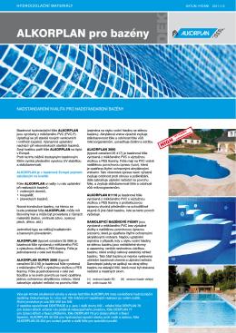 ALKORPLAN pro bazény