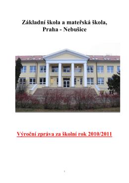 Výroční zpráva za rok 2011 - Základní škola