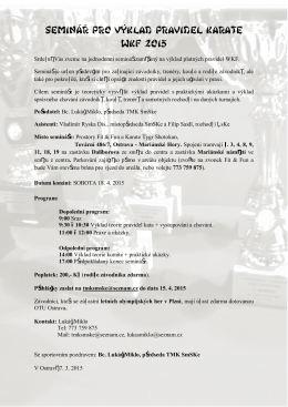 seminář pro výklad pravidel karate WKF 2015