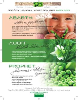 Odrůdy hrachu pro jaro 2015