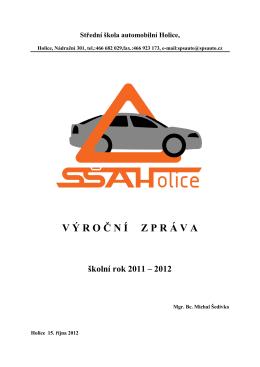 VÝROČNÍ ZPRÁVA 2011-12 - SŠ automobilní Holice