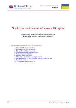 Souhrnná teritoriální informace Ukrajina