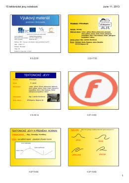 15 tektonické jevy.notebook - Základní škola Bojanov, okres Chrudim