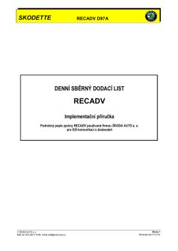 recadv (d97a) - Skodette