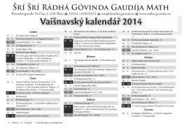 Vaišnavský kalendář 2014 - Radha