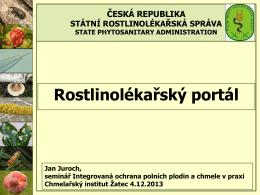Rostlinolékařský portál - Chmelařský institut, s.r.o.