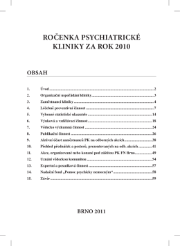 Rocenka 2010.pdf - Psychiatrie FN Brno