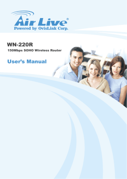 WN-220R User`s Manual