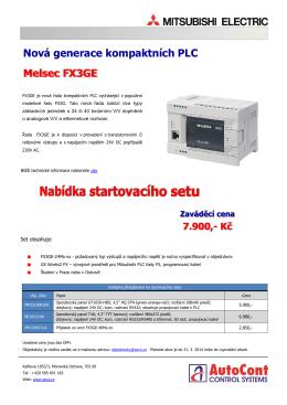 Nová generace kompaktních PLC Melsec FX3GE