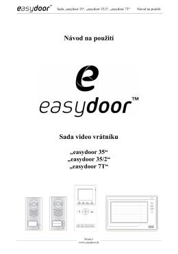 návod na použití sad easydoor 35 35-2 7T