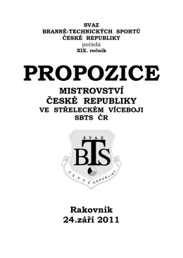 MISTROVSTVÍ ČESKÉ REPUBLIKY Rakovník 24.září 2011