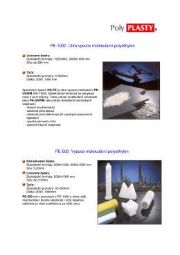 PE-1000 Ultra vysoce molekulární polyethylen PE