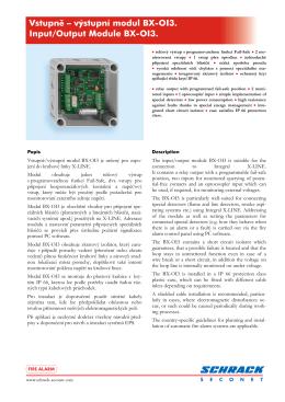 Vstupní/výstupní modul BX-OI3